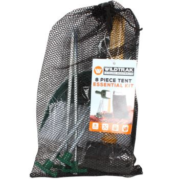 8PCE TENT ESSENTIAL KIT IN NET BAG