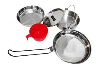 STAINLESS STEEL 1 PERSON MESS KIT