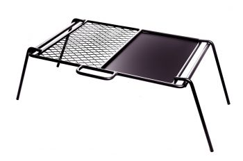 FLAT PLATE & GRILL CAMP COOKER 460X330X250MM