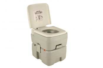 DELUXE PORTABLE TOILET 20LT GREY WITH LEVEL INDICATOR