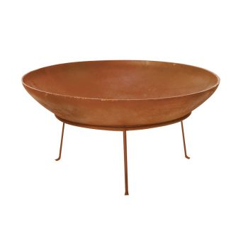 STEEL RUST COLOUR FIRE PIT 40CM 1.2MM THICKNESS