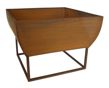 OUTDOOR WINDERMERE FIRE BOWL RUST COLOR IRON 50 X 50 X 37CM