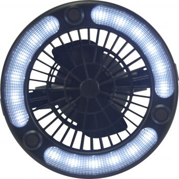 LIGHT AND FAN LED 2 IN 1 PORTABLE 167 X 185MM IN BOX